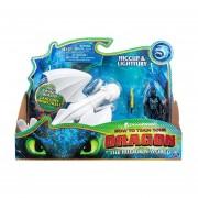 Como Entrenar a tu Dragon The Hidden World Hiccup y Lightfury Figura de accion 2 pack
