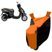 AutoAge Orange with Black Two Wheeler Cover For Electric Photon Hero Electric Bikes