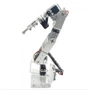 Aideepen ROT3U 6DOF Aluminium Robot Arm Silver Mechanical Robotic Clamp Claw for Arduino