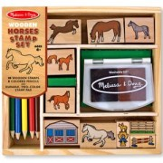 Комплект дървени печати с кончета - 12410 - Melissa and Doug, 000772124102