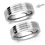 Silvego L´AMOUR pánský ocelový snubní prsten - RRC2095-M