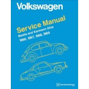 Volkswagen Beetle and Karmann Ghia Official Service Manual Type 1: 1966, 1967, 1968, 1969, Hardcover