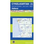 Fietskaart 06 Cykelkartan Halland | Norstedts