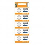 Батерия Vinnic CR1216, 3.0V - комплект 5 батерии