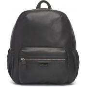 Babymel Luna Faux Leather Diaper Backpack black