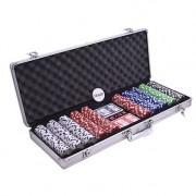 Set poker cu 500 chips uri model DICE si servieta din aluminiu