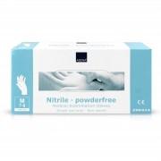 Abena - Nitril Handschoenen - Wit - Poedervrij - Maat M - 150 Stuks