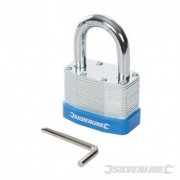 Silverline Laminated Steel Combination Padlock - 50mm 585571 5024763139963