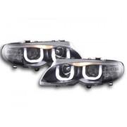 FK-Automotive fari Daylight a LED con DRL look BMW 3er E46 berlina anno di costr. 02-05 neri