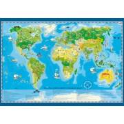 Kinderwereldkaart Young Explorer's World Map 140 x 100cm | Artglob