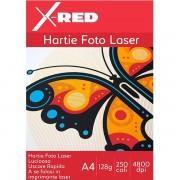 Hartie Foto Laser X-Red, A4, Lucioasa, 128g, 250 coli