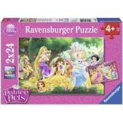 Puzzle Palace Pets 2x24 piese Ravensburger