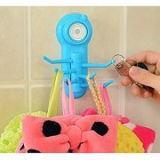 HOOK HANGER FOR KITCHEN BATHROOM Set of 6 Adhesive Steel Hooks for Wall hanging Kitchen Bathroom (Color as Available)
