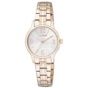 Citizen Analog White Round Women's Watch-EX0293-51A