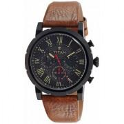 Titan Spring Summer'15 Analog Black Dial Men's Watch - NK90050NL01