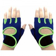 JMO27Deals Weightlifting Gloves for Gym Powerlifting Workout Weightlifting Crossfit for Men and Women (Blue Green)