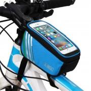 """B-soul YA0207 bolsa de tubo de bicicleta para telefono 4.8"""" - azul (1.4L)"""