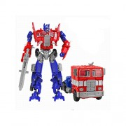 Stinger Transformation Deformation Toy Robots Brinquedos Classic Toys Action Figure convertible Robot into Truck For Kids Metal Body (Red)