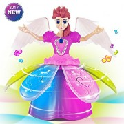 MAA TTS Electronic Pet Dancing Walking Move Music Singing Light Up Super Hero Amazing Girl Princess Toddler Learning Play Fairy Dolls Toys Figure Birthday Xmas Christmas Gifts for Kids Girls Boys Prime