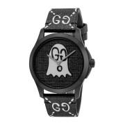 【44%OFF】ゴーストグラフィック ラウンドウォッチ ケース:ブラック ベルト:ブラック/ホワイト ファッション > 腕時計~~メンズ 腕時計