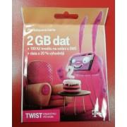 Twist karta 2GB Dat +100Kč kredit