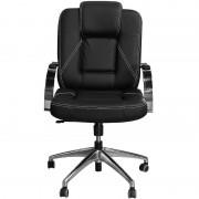 Cadeira Mônaco Luxo Preta com Estrela e Braços Cromados - Pethiflex