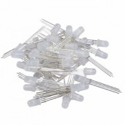 INVENTO 5 mm 4-Pin 3V-5V RGB Tri-Colors Common Cathode LED Diodes Diffused Plastic Lights (Multicolour) -50 Pieces