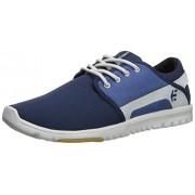 Etnies Scout Zapatillas de Skate para Hombre, Azul Marino/Blanco/Azul, 7 US