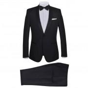 vidaXL 2 db Black Tie Tuxedo férfi szmoking méret 54 fekete