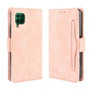 Huawei Voor Huawei nova 7i/P40 lite/Nova 6SE Wallet Style Skin Feel Calf Pattern Lederen Case met aparte kaart slot (Roze)