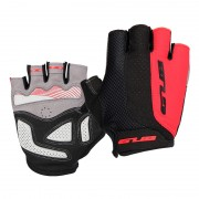 GUB [Half Finger] Anti-skid Pad Shockproof Bicycle Gloves Gel Pad Short Gloves - Size: M / Red