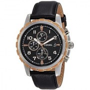Fossil Chronograph Black Dial Mens Watch - FS4545