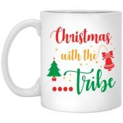 Christnas With The Tribe - Happy Holidays - 11 oz. White Mug - 2032