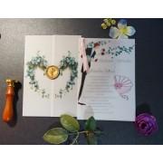 Invitatie nunta cu sigiliu OPIS058