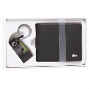 Подаръчен комплект LACOSTE - M Billfold Key Holder Box NH3288FG Black 000