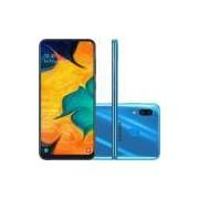 Smartphone Samsung Galaxy A30 SM-A305G Azul 4GB 64GB Tela 6.4 Dual Chip 4G Android 9 - Desbloqueado
