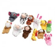 ELECTROPRIME 12Pcs Finger Puppets Cloth Doll Baby Educational Hand Cartoon Zoo Animal Toy