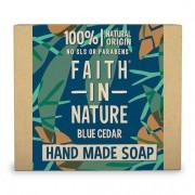 Faith in Nature Blue Cedar Hand Made Soap, 100 g