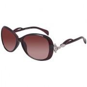HH (Jasica009BRWN) Brown Oval Sunglasses