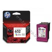 Касета HP 652, Tri-color, p/n F6V24AE - Оригинален HP консуматив - касета с глава и мастило
