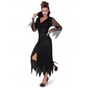 Vegaoo.es Disfraz disfraz de bruja puntilla negra mujer - S