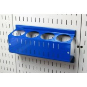 Wall Control ASM-CH-014 BU Pegboard Spray Can Holder Bracket and Aerosol Can Organizer for Pegboard and Slotted Tool Board, Blue