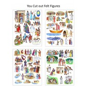 Story & Life of Jesus 13 Bible Stories for Flannel Board- You Cut Out Felt Figures