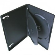 DVD-BOX 14 mm Тройна черна за DVD