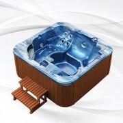 Whirlpool American Outdoor Whirlpool Torina Ocean Blue / Teak 215x215cm