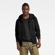 G-Star RAW Heren Premium Basic Hoodie Zwart - Heren - Zwart - Grootte: Extra Large