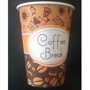 Pahare carton Coffee Break, 7 oz, 100 buc