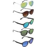 David Martin Aviator, Wayfarer Sunglasses(Green, Brown, Blue)