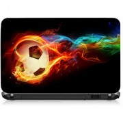 VI Collections Fired Football Printed Vinyl Laptop Decal 15.5