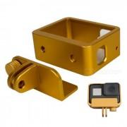 caso de parachoques del marco de aleacion de aluminio para GoPro Hero 5 - oro